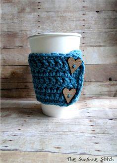 Coffee Cozy cup mug warmer Cuppa Love Cozy by TheSunshineStitch, $14.00      Clever!!!!!