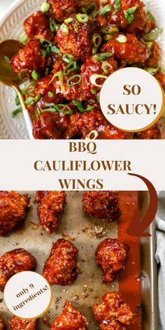 BBQ Cauliflower Wings made with just 9 ingredients are the perfect cauliflower wings for Game Day Snacks and Appetizers, and any occasion! They're crispy, crunchy and coated in a saucy bbq sauce with just a few ingredients. Learn how to make these in HALF the time!! Give this a try at your next vegan party!