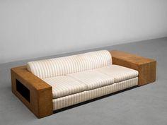 Enameled Paul T. Frankl Custom-Built Art Deco Sofa, 1930 For Sale Sofa Furniture, Pallet Furniture, Modern Furniture, Furniture Design, Sofa Bed Design, Living Room Sofa Design, Diy Sofa, Wooden Sofa Set Designs, Art Deco Sofa