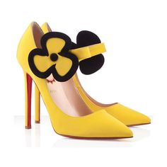 Budget Pensee 120mm Satin Pumps Yellow Red Sole Shoes Luxury US... ❤ liked on Polyvore featuring shoes, pumps, christian louboutin shoes, satin shoes, yellow pumps, yellow satin shoes and christian louboutin pumps
