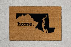 Maryland Home Door Mat - $39