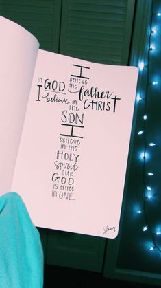 I believe in God the father. Bible Verses Quotes, Jesus Quotes, Bible Scriptures, Faith Quotes, Bible Art, Bibel Journal, Bible Doodling, Bible Notes, Quotes About God