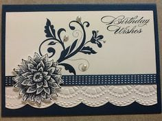 Lesley's Stampin Ground : Flowering Flourishes Birthday Card and Creative Elements.   :))