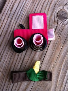 John Deere Tractor and Corn Ribbon Sculptures Set by patyg13, $5.50