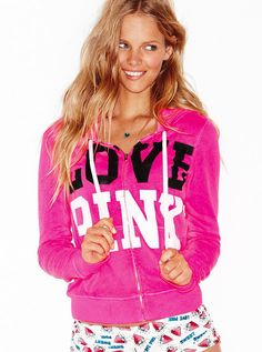Victoria's Secret should use this girl for other collections than just the PINK collection, don't you think? Vs Pink Outfit, Pink Outfits, Love Pink Jackets, Pink Flip Flops, Vs Pink Hoodie, Pink Nation, Pink Brand, Everything Pink, Victoria's Secret Pink