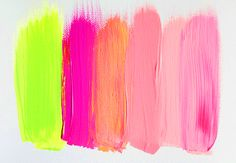 #colour #neon #pink #yellow #paint