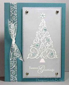 Swirled Tree by labullard - Cards and Paper Crafts at Splitcoaststampers Snow Swirled, Season of Joy (top)