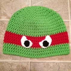 Ninja turtle hat www.facebook.com/laceycreations