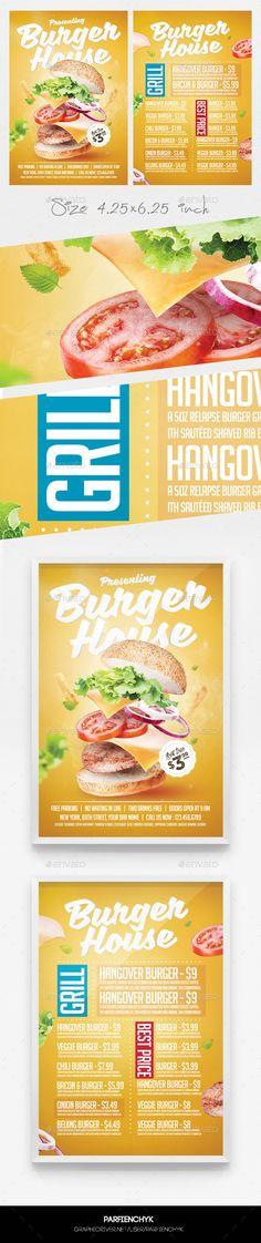 Burger Flyer Template PSD. Download here: https://graphicriver.net/item/burger-flyer-menu-template/17338951?ref=ksioks