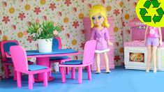 How to make a mini doll dinning room set with cardboard and paper- Doll ...