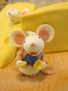 Mice & Cheese Porcelana fria polymer clay pasta francesa masa flexible fimo modelado modelling figurine