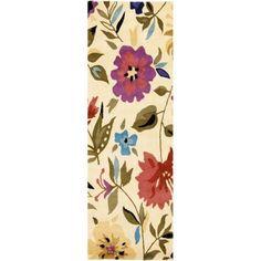 Safavieh Soho Florence Wool Runner Rug, Ivory/Multi-Color, 2'6 inch x 8', White