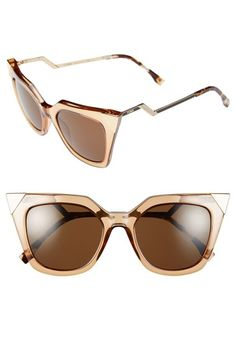 Fendi 52mm Cat Eye Sunglasses available at #Nordstrom