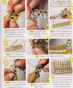 1 million+ Stunning Free Images to Use Anywhere Crochet Video, Crochet Chart, Crochet Patterns, Soda Tab Crafts, Can Tab Crafts, Pop Top Crafts, Pop Tab Purse, Pop Can Tabs, Soda Tabs