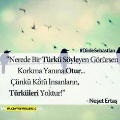 Nerede Bir Türkü Söyleyen Görürsen, Korkma Yanına Otur... Çünkü Kötü İnsanların, Türküleri Yoktur! / Neşet Ertaş