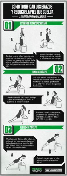 Excelentes ejercicios para tonificar los brazos desde casa/http://www.recetasparaadelgazar.com/2015/11/3-excelentes-ejercicios-para-tonificar-los-brazos-desde-casa/