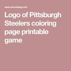 best steelers coloring pages printable gallery - printable ... - Steelers Coloring Pages Printable