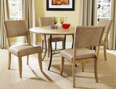 Buy Hillsdale Charleston 5 Piece 48x48 Dining Set w/ Parson Chairs on sale…
