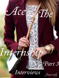 Purple and Pearls : Ace that Internship: Interview Tips