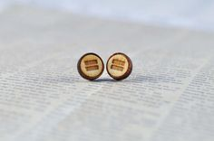 Equality Stud Earrings | Feminism Jewelry | LGBT+ Accessories | Wood Etch Unisex earrings