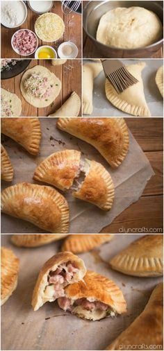 Ham And Cheese Pockets – Hot Pockets Mimic That's Better Than The Original - Recipe and photos by diyncrafts.com team! <3 via @vanessacrafting