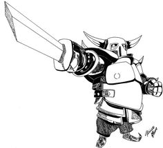 Free Printable Clash of Clans Pekka Knight Coloring Pages ...