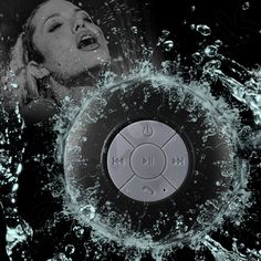 Portable Waterproof Wireless Bluetooth Handsfree Suction Shower Speaker UK Stock