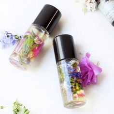 A beautiful aromatherapy perfume roll-on made with organic essential oils and wild harvested spring flowers.
