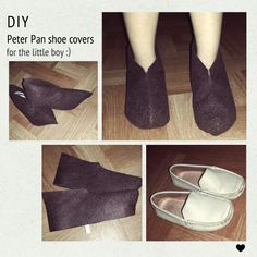 Finally got the chance to finish this. Been very busy these past few weeks with my son's examination week comin' and what not.. now the next and last on my list is the hat :) #peterpan #diy #shoecover #halloween #costume