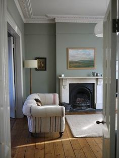 Modern Country Style: Modern Country Living Room Quest... Click through for details. Sofa upholstered using vintage grain sacks plus AWESOME…