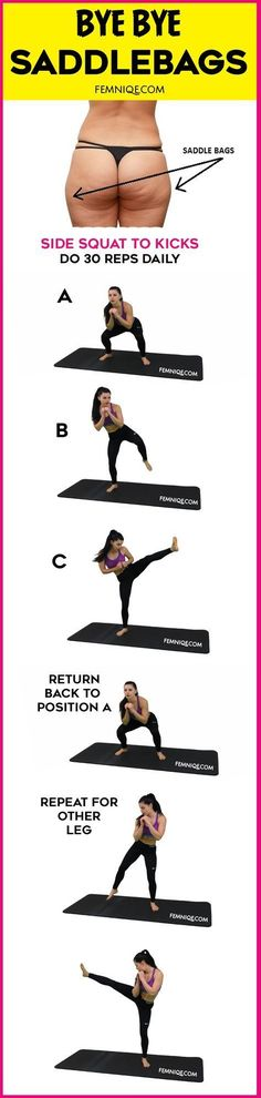 Fat Melting Saddlebag Workout/Exercise - Want to get rid of saddlebags fast using exercise? Then give this saddlebag workout outer thighs move a try! This is a 2-in-1 exercise that can make you become a saddlebag workout before and after success story! don't forget to take pics to track progress. Do this 4 times a week!