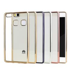 Plating Phone Case For Huawei P9 Lite Cover Silicone Ultra Thin Soft Transparent TPU Back Cover For Huawei P9 Lite Luxury Gold