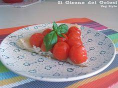 Tatin ai Pomodorini ripieni di Ricotta e Basilico