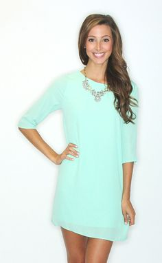LOVE LOVE LOVE! perfect for my skin color! Riffraff | want you back shift dress - mint