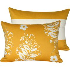 Yellow Whimsical Throw Pillow Cover 12x16 Double Sided Lumbar, Flowers and Stripes, They Call Me Mellow Yellow Collection. $27.50, via Etsy.