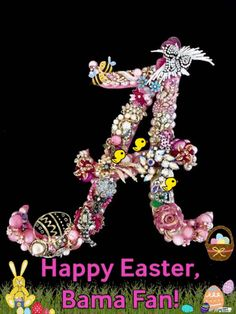 Discover & share this Gif Happy Easter Alabama Football Fan Bunny Eggs Risen GIF with everyone you know. Alabama Football Team, Crimson Tide Football, Alabama Elephant, Vintage Jewelry Crafts, Jewelry Art, Holiday Pictures, Alabama Crimson Tide, Roll Tide, Happy Easter