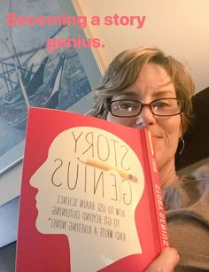 """Ellyn Oaksmith on Twitter: """"#FridayMotivation from @LisaCron and her fabulous Story Genius book. Helping me shape up Draft #2. #WritingLife #writingtips #AuthorLife… https://t.co/Y6VwcH5ceM"""""""
