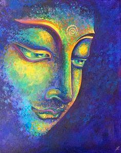 Art Buddha, Buddha Drawing, Buddha Canvas, Buda Painting, Budha Art, Spiritual Paintings, Oil Pastel Art, Indian Art Paintings, Acrylic Painting Canvas