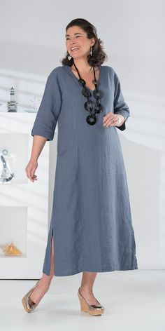 Kasbah denim linen pocket dress