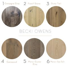 Check out these hardwood flooring options, warmer and cooler hardwood options by Becki Owens. She highlights a couple of examples where she replaced cement or tile with hardwood. Hardwood Floor Stain Colors, Types Of Wood Flooring, Wood Stain Colors, Grey Flooring, Flooring Ideas, Laminate Flooring, Parquet Flooring, Gray Hardwood Floors, Ideas