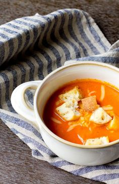 Roasted Red Pepper and Gouda Soup - I made this with zucchini and smoked gouda and added a small bit of tomato paste and 'twas delish!