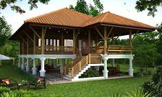 รูปภาพที่เกี่ยวข้อง #HotelExteriorDesign Wooden House Design, Bamboo House Design, Tropical House Design, Tiny House Design, Tropical Houses, Cottage Plan, Cottage Homes, Hut House, Philippine Houses