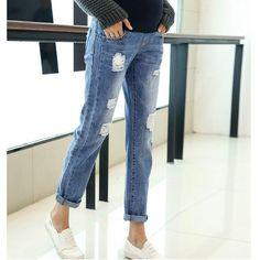 22d32beb5e Maternity Clothing Jeans Pants For Pregnant Women Clothes Nursing Trousers  Pregnancy Overalls Denim Long Prop Belly Legging New