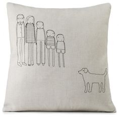 How cute.  Personalized Family Pillow eclectic pillows