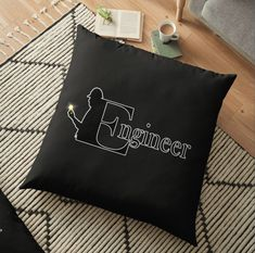 Vibrant double-sided print floor pillows are a versatile seating or lounging option that will update any room @salehsmb87 #engineer #floorpillow Home Decor Items, Pillow Design, Engineer, Floor Pillows, Vibrant, Cushions, Flooring, Prints, Room