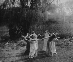 Beltane dance in the forest.