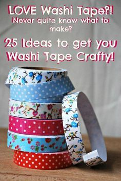 I loooove pretty tape - but tend to buy it and then hoard it. So I put together this list of craft ideas using Washi Tape (special pretty tape from Japan). Have you got a favourite Washi Tape craft? - Crafting For Holidays Diy Projects To Try, Crafts To Make, Fun Crafts, Craft Projects, Crafts For Kids, Craft Ideas, Fun Ideas, Creative Ideas, Washi Tape Cards