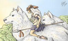 Princess Mononoke by *sarumanka on deviantART