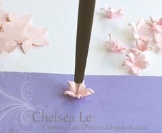 Crafting Life's Pieces: Treasure the moment shabby chic card - 5 petal flowers tutorial