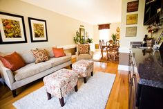 Decorating with Orange traditional living room